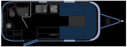 Планировка трейлера Airstream 532