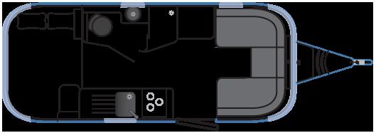 Планировка трейлера Airstream 534 Series 2