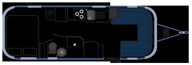Планировка трейлера Airstream 684 Series 2