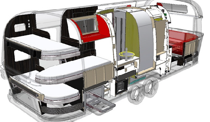 Планировка трейлера Airstream 685 Series 2