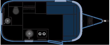 Планировка трейлера Airstream Bambi