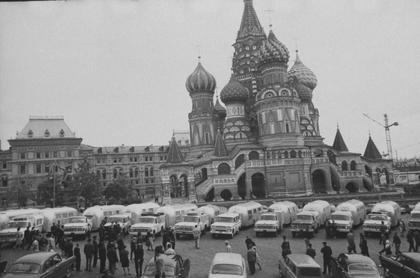 St. Basil's Cathedral visited by trailer