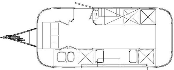 Планировка трейлера Фургон-бар Airstream