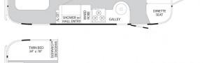 Планировка трейлера Airstream Inetrnational Signature