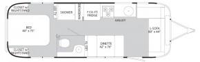 Планировка трейлера Airstream International Serenity