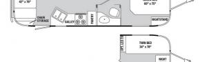 Планировка трейлера Airstream Classic