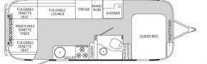 Планировка трейлера Airstream Eddie Bauer