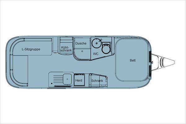 Планировка трейлера Airstream 604
