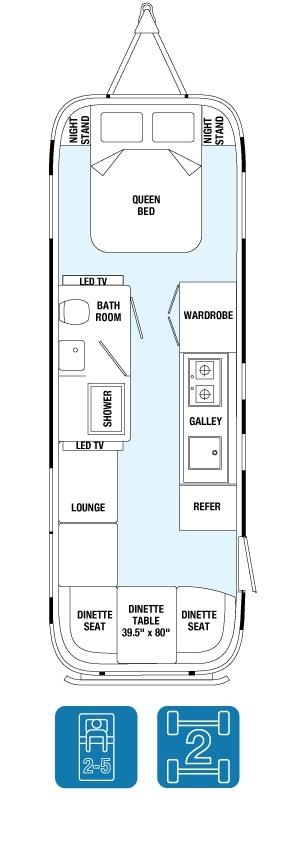 Планировка трейлера Airstream Land Yacht